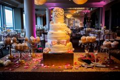 Gorgeous Wedding Cake. The bride loved it! Location:Capital City Club Montgomery Al Bakery: Ligers Bakery Florals: Dana's Floral & Design Photography: Nick Frontiero Productions