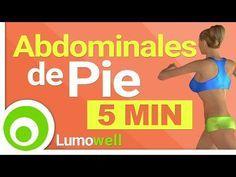 Abdominales de Pie en 5 Minutos - Ejercicios para un Abdomen Plano - YouTube