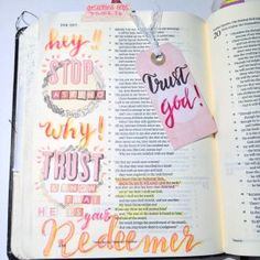 Bible Journaling in Job from Rebecca Sawatsky ©bibleartjournaling.de