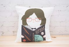 Geek Girl Cover Throw Pillow Cover Kissen von paiandpear auf Etsy