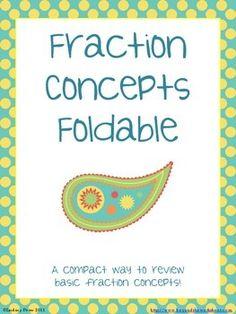 Fraction Concepts Foldable