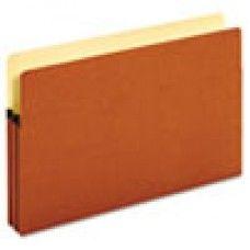 """Desk Supplies>Desk Set / Conference Room Set>Holders> Files & Letter holders: Bulk File Pockets, Straight Cut, 1 Pocket, Legal, 1 3/4"""" Exp., Brown, 50/Carton"""