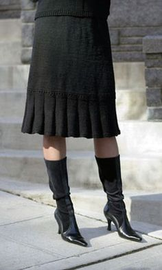 Hot Trend for Fall - Knit and Crochet Skirts! This one is the Little Flirt Skirt on Cascade Yarns.