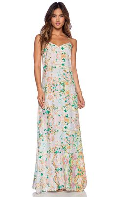 Essentiel Unexpected Flowers Maxi Dress in Floral   REVOLVE