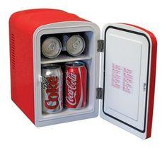 Coca Cola Personal Fridge Mini Fridge Thermoelectric Portable Cooler Personal Fridge