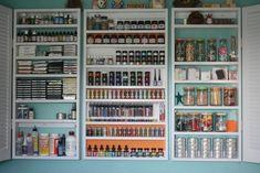 Craft Room Storage - Shelving One - Open Doors - bjl