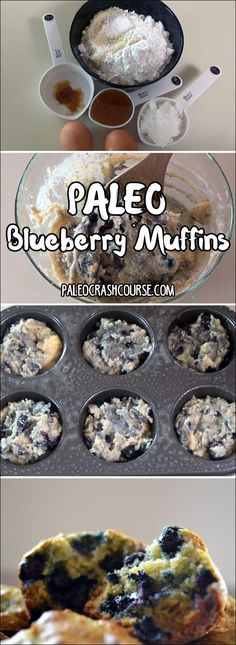 Paleo friendly blueberry muffins that are great as a snack or even for dessert.