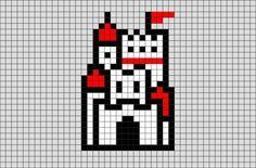 Mushroom Kingdom Castle Mario Pixel Art from BrikBook.com #mushroomkingdom…
