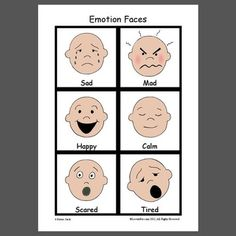 Emotion Faces - Pinned by @PediaStaff – Please Visit ht.ly/63sNtfor all our pediatric therapy pins