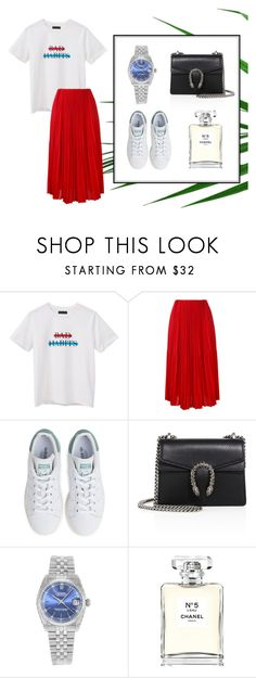 """""""Casual outfit #2"""" by frontrowshop on Polyvore featuring mode, Front Row Shop, Astraet, adidas, Gucci, Rolex et Chanel"""