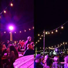 """More of """"Marché de l'est""""! · #montreal #montrealolympicstadium #parcolympique #marchédelest #night #foodtruck #poutine #lights #colours #purple #pink #samsungs4 ·"""