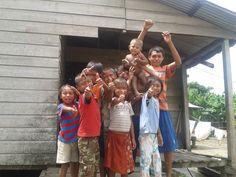 Familia Warao, Niños Warao