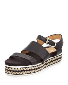 Celina+Flatform+Leather+Espadrille+Sandal,+Black+by+Aquatalia+at+Bergdorf+Goodman.