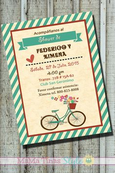 Tandem bicycle couples shower invitation set by oliveandstar tandem bicycle couples shower invitation set by oliveandstar wedding invitation ideas pinterest couples shower invitations couple shower and filmwisefo Choice Image