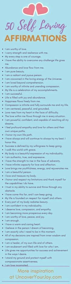Self-affirmations for accelerated self-love