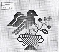 Gallery.ru / Фото #1 - Ackworth Pattern Book - natalytretyak Crochet Leaf Patterns, Crochet Leaves, Cross Stitching, Cross Stitch Embroidery, Cross Stitch Patterns, Blackwork, Small Projects Ideas, Project Ideas, Filet Crochet