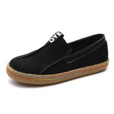 Shop Loafers - Black Women's Flat Suede Loafer online. Discover unique designers fashion at PopJuLia.com.
