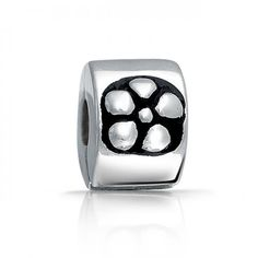 Bling Jewelry 925 Sterling Silver Flower Stopper Clasp Bead Pandora Compatible