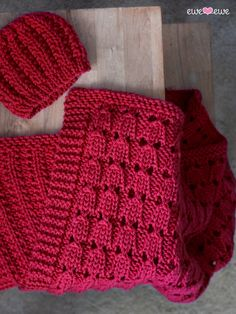Baby Blanket and Hat Knitting Pattern