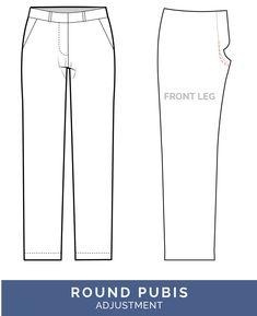 Camel Toe Adjustment - Round pubis adjustment  // Pants Fitting Adjustments // Closet Case Patterns