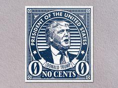 "A ""No Sense"" Trump postage stamp"