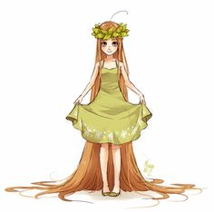 green tea fullbody by meago.deviantart.com on @deviantART. I like the simplicity of the dress. The whole picture has a naturey feel. ^v^