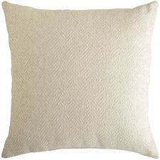 Herringbone Chenille Oversized Pillow - Ivory