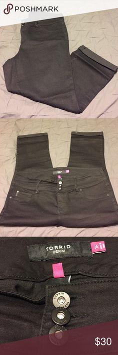 NWOT! Torrid Black Capris. Brand new. Never worn. In excellent condition.  No tags. Torrid size 16. torrid Pants Capris