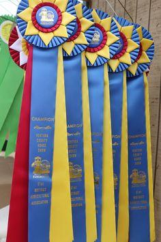 Ribbons at the Ventura County Fair.