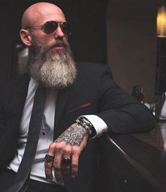 The Best Beard Styles For Bald Men (Balding With A Beard) : The Best Beard Styles For Bald Men (Balding With A Beard) The best beard styles for bald men you need to see. If you are a bald men, then these beard styles for bald men will inspire you! Bald Men With Beards, Bald With Beard, Grey Beards, Long Beards, Bald Man, Different Beard Styles, Long Beard Styles, Beard Styles For Men, Hair And Beard Styles