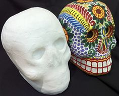 Day of the dead craft skull designs