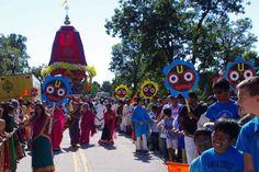 5th Annual Jagannath Rath Yatra in Bloomington.  Damodarananda Das: We…