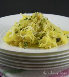 Herbed Spaghetti Squash with Lemon and Pistachios