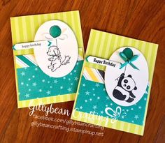 Gillybean Crafting : Stampin' Up! Bella and Friends; Party Pandas