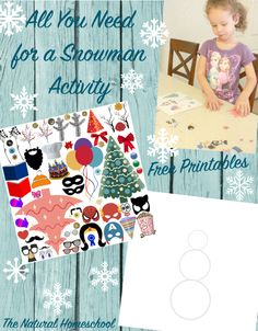 FREE Snowman Activities and Printables