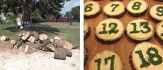 Easy woodsy table numbers and place cards