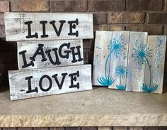 Reclaimed Pallet Signs Made by me Jess's Junk To order go to http://www.facebook.com/jessicajosjunk