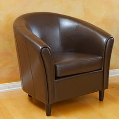 Napoli Bonded Leather Espresso Brown Chair - Brown Leather - Christopher Knight Home