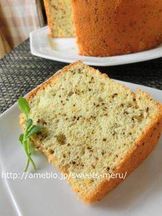 「紅茶とマーマレードのシフォンケーキ」meru | お菓子・パンのレシピや作り方【cotta*コッタ】