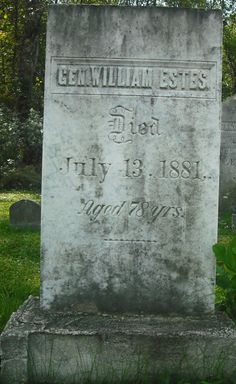 Cape Vincent, NY, grave of General William Estes, the man who conceived the disastrous raid on Canada near Prescott in 1838.