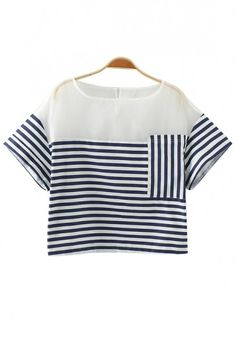 Striped blouse with great symmetry! Love this!
