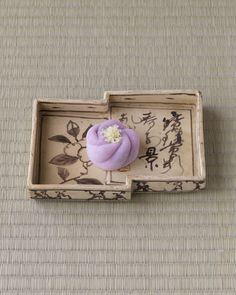 Japanese sweets on a ceramic plate from Edo period (1603~1868)