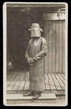 Técnico en radiología en la Primera Guerra Mundial. Francia, 1918.