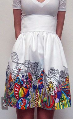ninjaninja :: High Waisted Pop Art Skirt