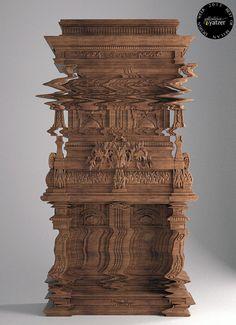 The ''Good Vibrations'' storage unit by Ferruccio Laviani for Fratelli Boffi.