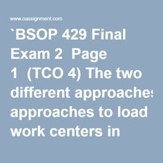 bsop 429 midterm exam 1 Issuu is a digital publishing platform that makes it simple to publish magazines, catalogs, newspapers, books, and more online easily share your publications and get them in front of issuu's millions of monthly readers title: bsop 429 week 4 midterm exam package, author: bettykobregon, name.