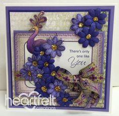 Heartfelt Creations | Purple Peacock With Daisies