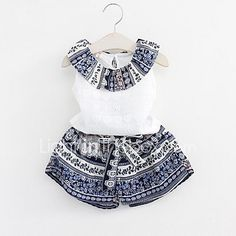 Summer Girls Clothing Sets Cotton Vest Two-piece Sleeveless Children Sets Casual Fashion Girls Clothes Suit Childrens Clothes Sale, Terno Casual, Cool Baby Boy Clothes, Summer Clothes, Clothes Uk, Style Clothes, Boy Outfits, Fashion Outfits, Fashion Clothes