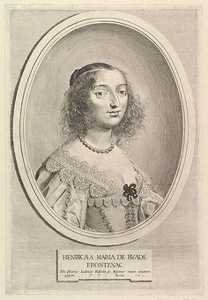 Henriette-Marie de Buade-Frontenac, 1641 by Claude Mellan (1598-1688)