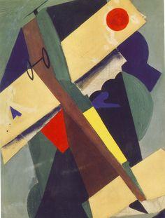 The Plane by Mario Sironi (Italian 1885-1961)